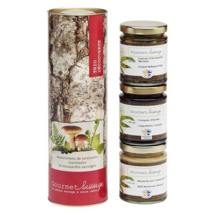 Trio Découvertes sauvages 3 x 190ml (tartinade,moutarde et marinade de la forêt)