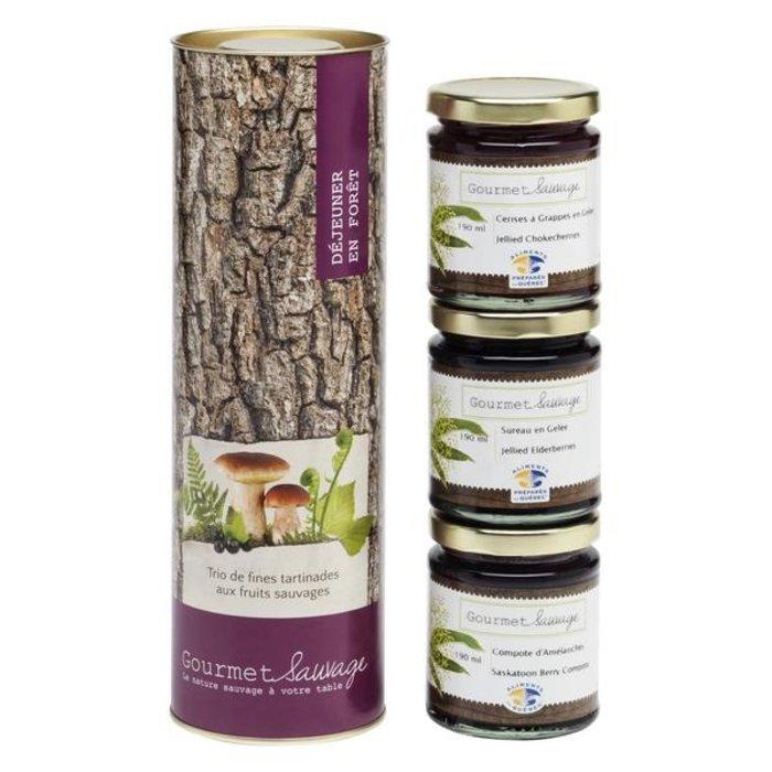 Trio Déjeuner en forêt 3 x 190ml (fines confitures fruits sauvages)