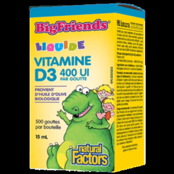 Vitamine D3 pour enfant 400UI par goutte 15ml