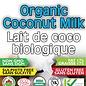 Lait de coco biologique , 17%, 400ml