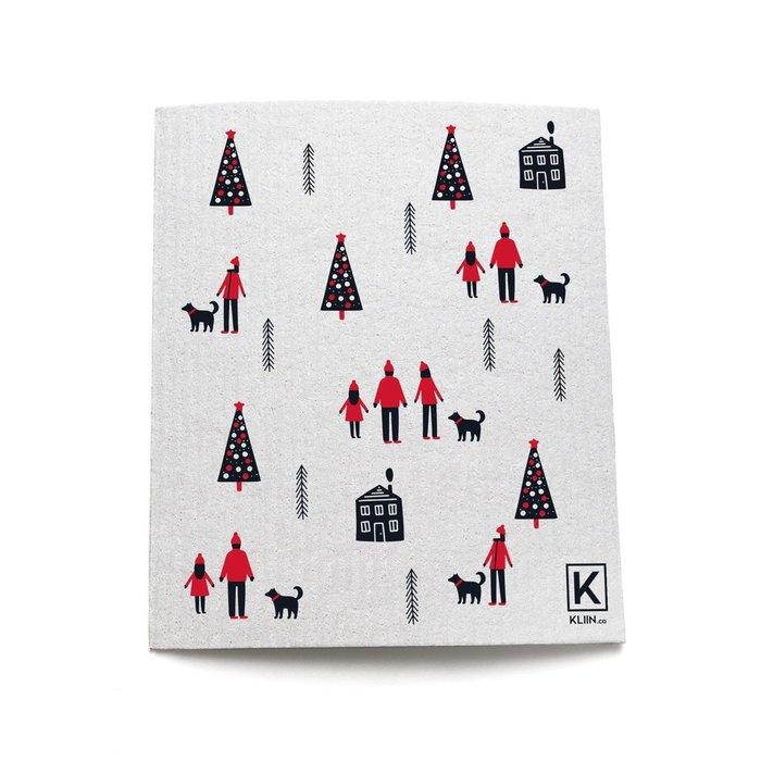 Lingette essuie-tout réutilisable de Noel