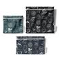 Trio de sacs à collation réutilisables faits de bouteilles recyclées
