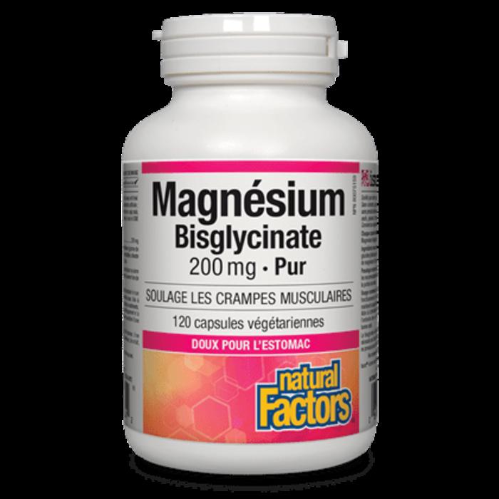 Magnésium bisglycinate pur 200mg, 120 caps