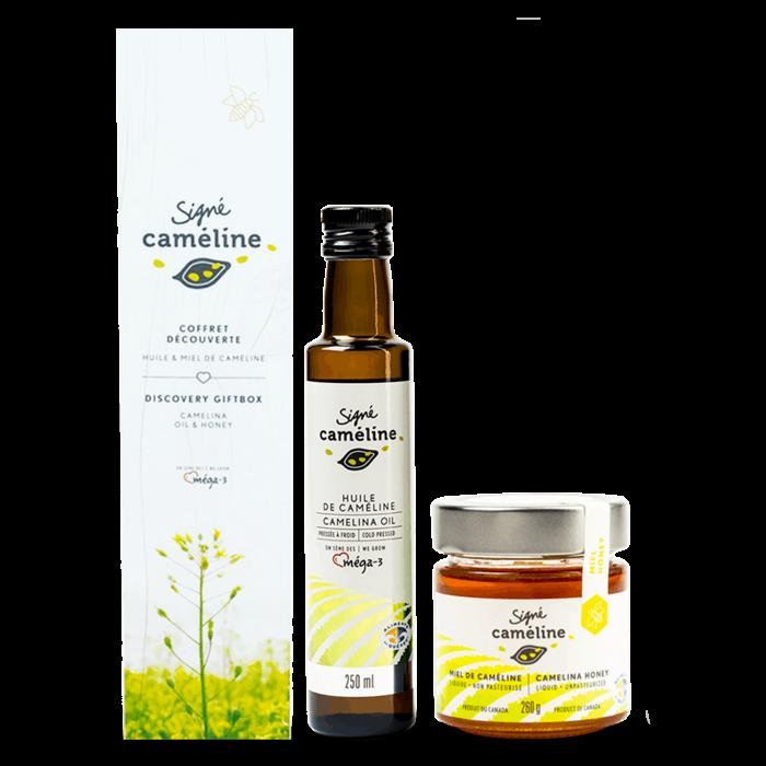 Coffret huile et miel de caméline