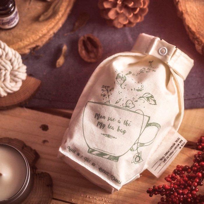 Sac à thé en chanvre reutilisable