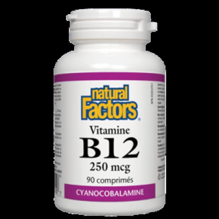Vitamine B-12 cyanocobalamine, 250 mcg, 90 comprimés