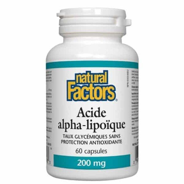 Acide Alpha-lipoique 200mg, 60 capsules