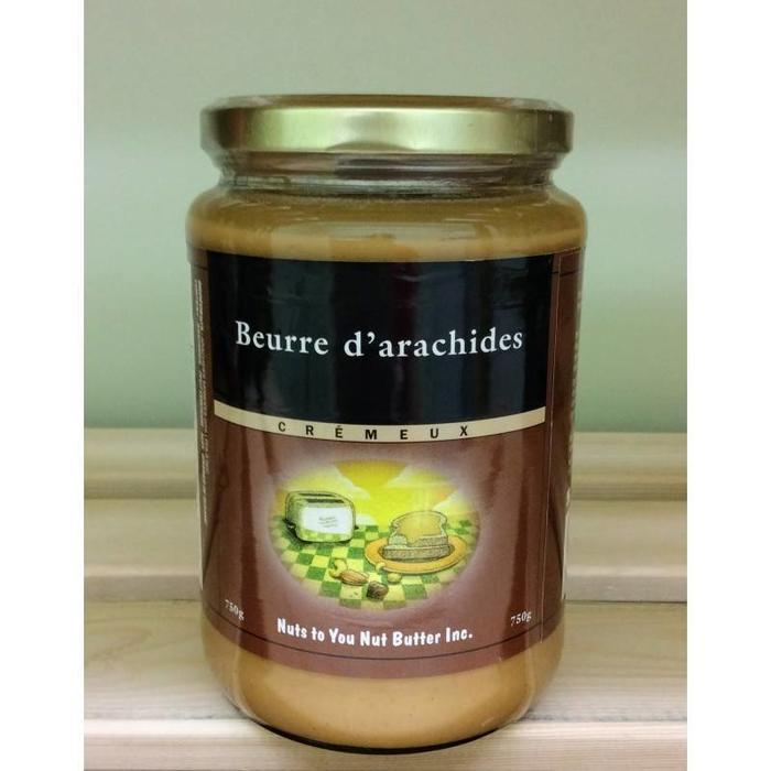 Beurre d'arachide crémeux biologique 750 g