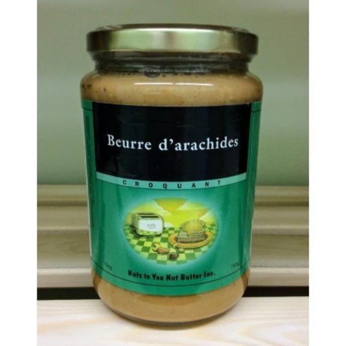 Beurre d'arachides croquant 750g bio