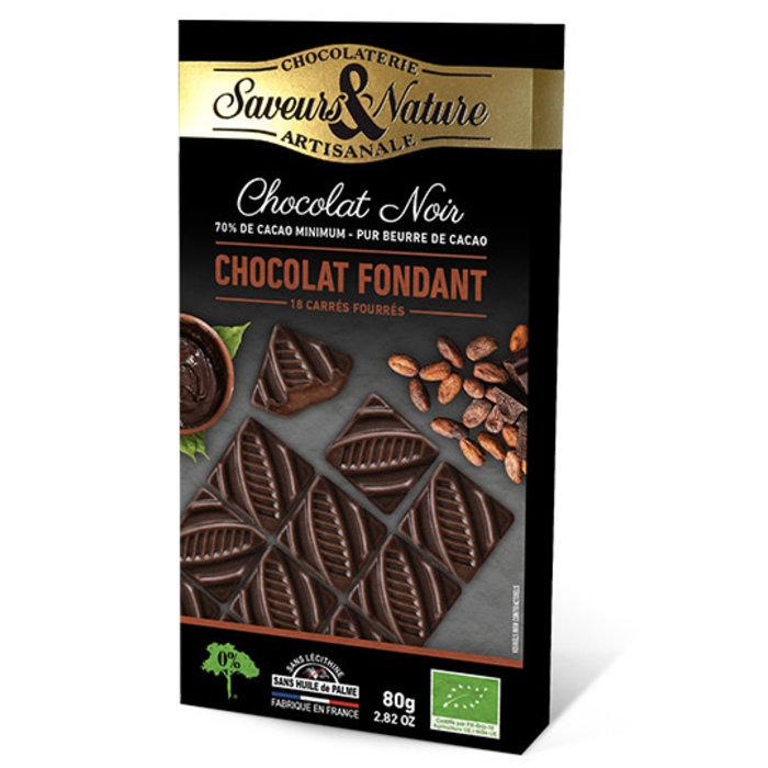 Carré fourré cacao & chocolat noir 80g