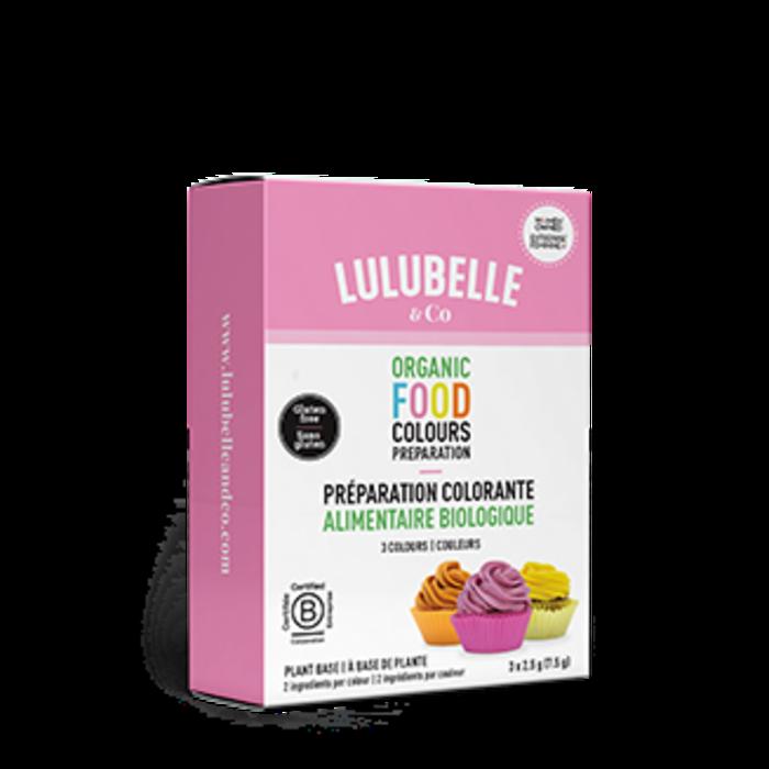 Préparation colorante alimentaire (3 couleurs)