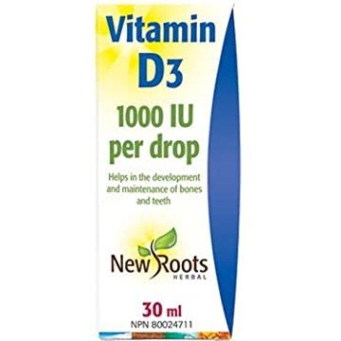 Vitamine D3, 1000ui par goutte