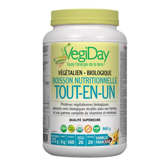 Protéine végétalienne bio tout-en-un  860g Vanille