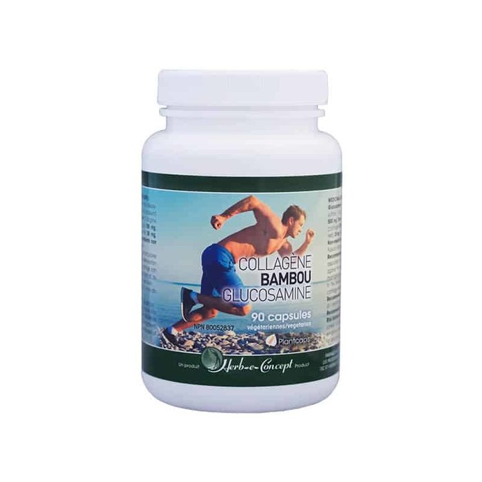 Collagene Bambou glucosamine, 90caps