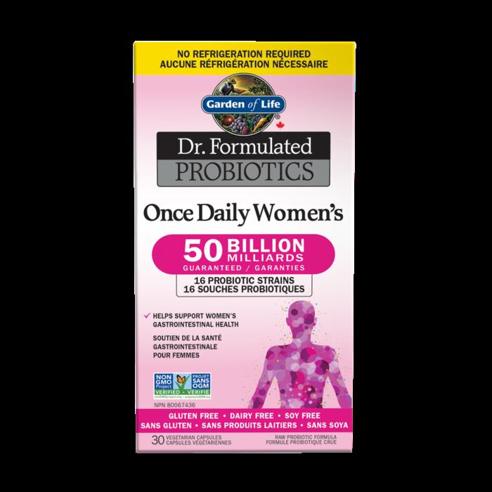 Probiotiques Femme Une par jour 50 milliards 30 capsules vegetariennes