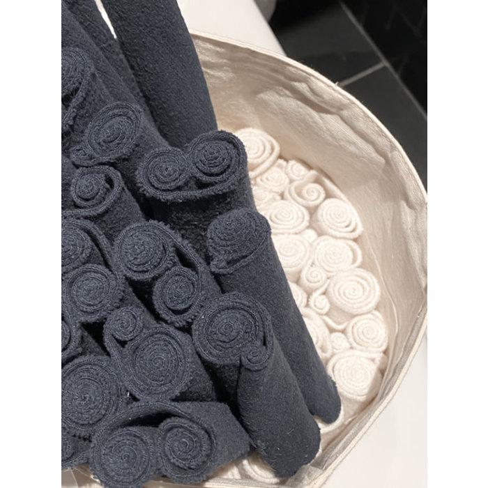 12 rouleaux de papier toilette lavables; noirs