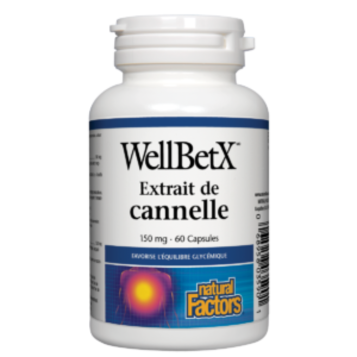 Extrait de cannelle Well Bet X 150mg 60 capsules