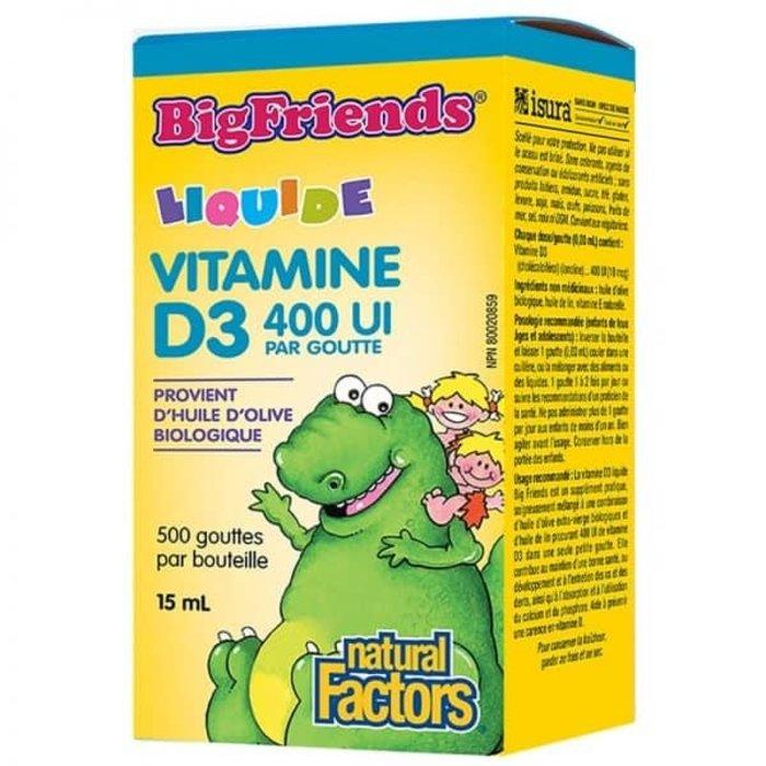 Vitamine D3 400 Ui, pour enfant