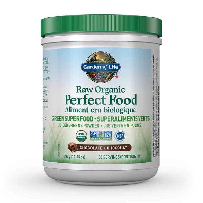 Aliment cru bio, super aliments vert, chocolat, 285g