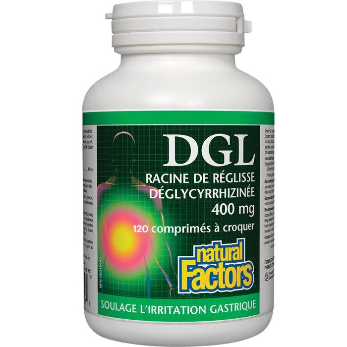 DGL , racine de réglisse déglycyrrhizinée, 180 comprimés croquables