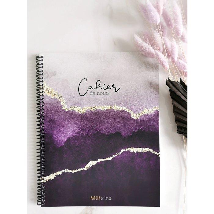 Cahier de notes grand format