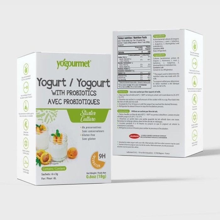 Culture de yogourt, avec probiotiques, 6 sachets x 3g  (contient du lait)