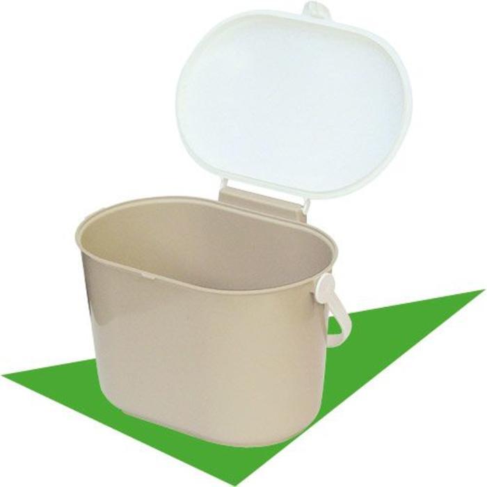 Bac brun a comptoir pour composte