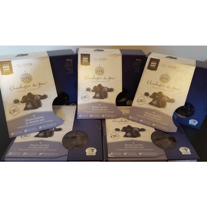 Bleuets enrobes de chocolat noir 160g