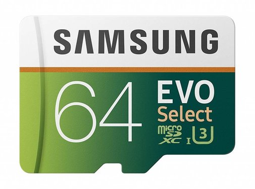 Samsung Samsung 64GB 100MB/s (U3) MicroSDXC EVO Select Memory Card with Adapter (MB-ME64GA/AM)