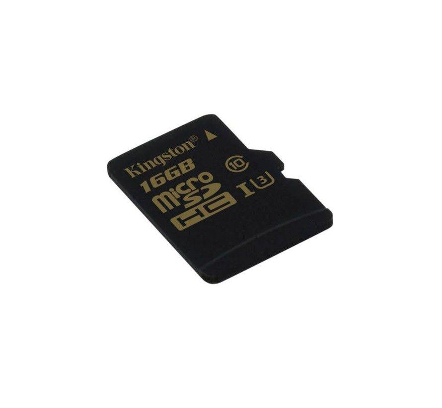 Kingston 16GB Microsd HC Class U3 UHS-I 90R/45W + SD Adapter
