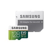Samsung Samsung 128GB 100MB/s (U3) MicroSD EVO Select Memory Card with Adapter (MB-ME128GA/AM)