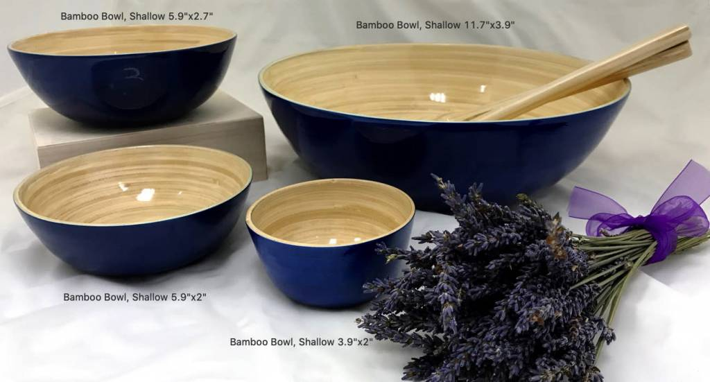 "albert Bamboo Bowl, Shallow 11.7""x3.9"""