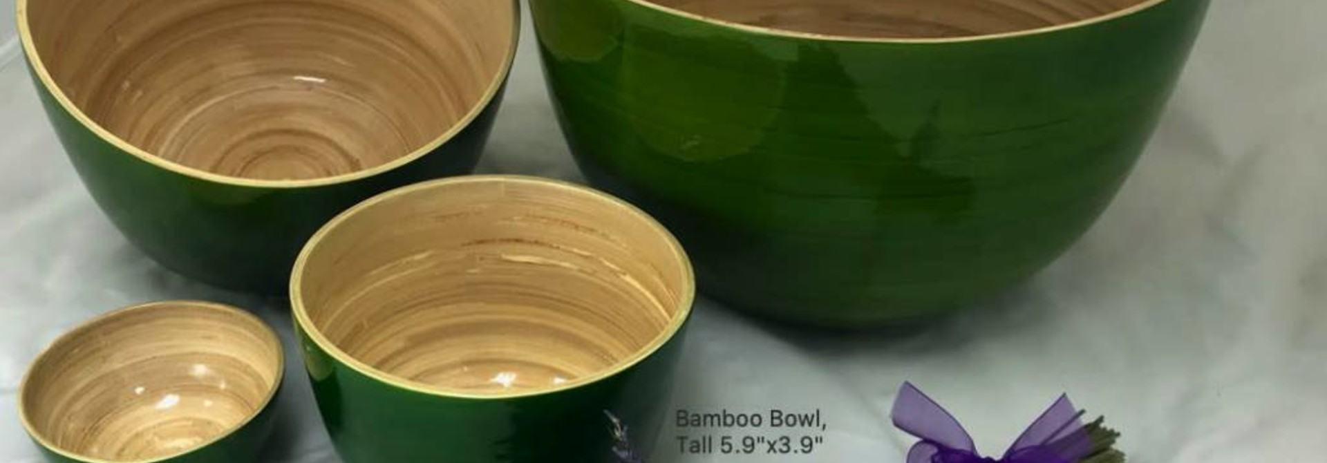 "Bamboo Bowl, Tall 5.9""x3.9"""