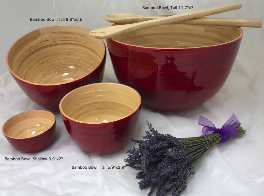 "albert Bamboo Bowl, Tall 8.6""x5.5"