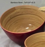 "albert L. (punkt) Inc Bamboo Bowl, Tall 8.6""x5.5"