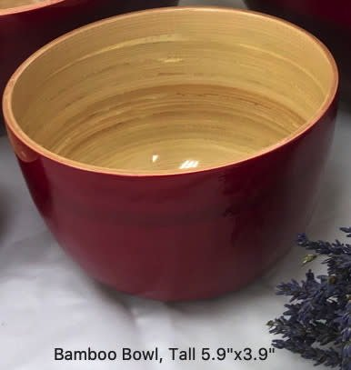 "Bamboo Bowl, Tall 5.9""x3.9""-7"