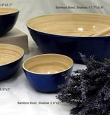 """albert L. (punkt) Inc Bamboo Bowl, Shallow 7""""x2.7"""""""