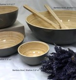 "albert Bamboo Bowl, Shallow 7""x2.7"""