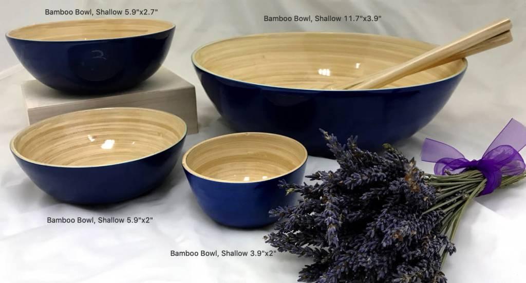 "Bamboo Bowl, Shallow 5.9""x2""-1"