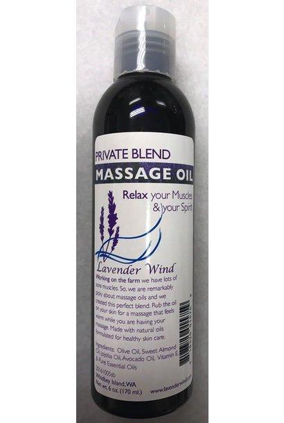 Private Blend Massage Oil - 6oz