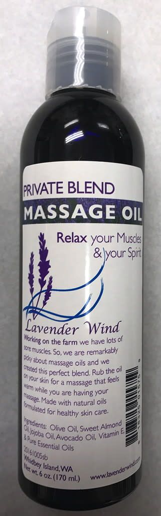 Lavender Wind Private Blend Massage Oil - 6oz