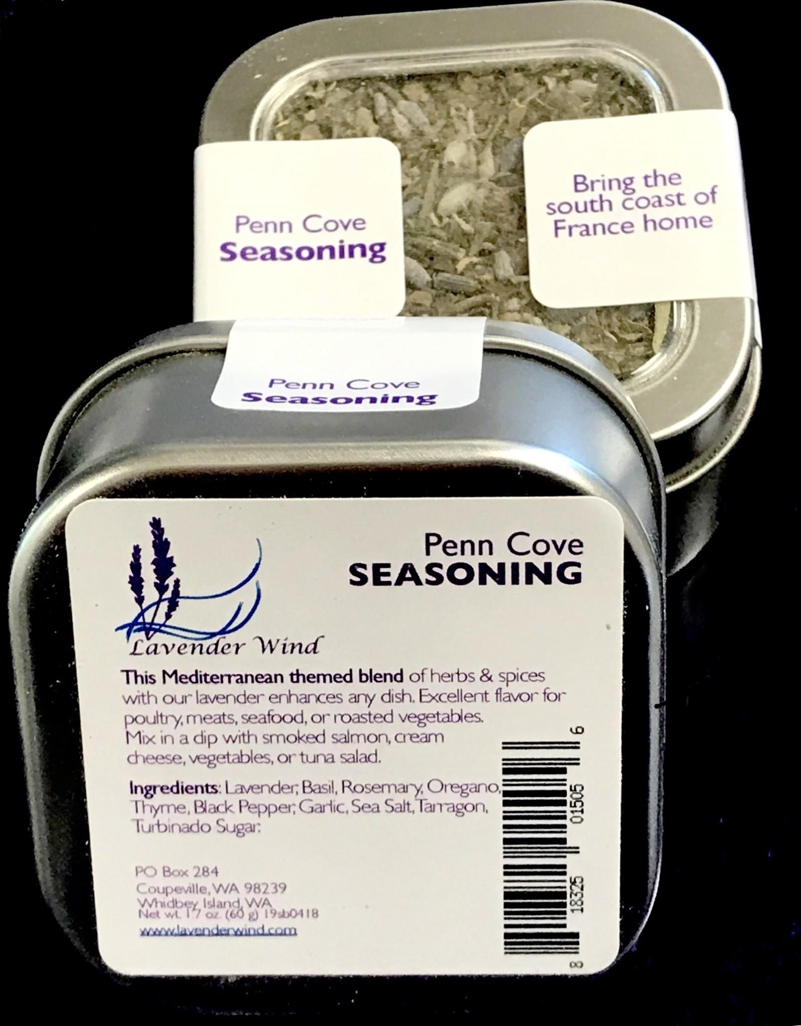 Lavender Wind Penn Cove Seasoning in Tin, 1.5oz