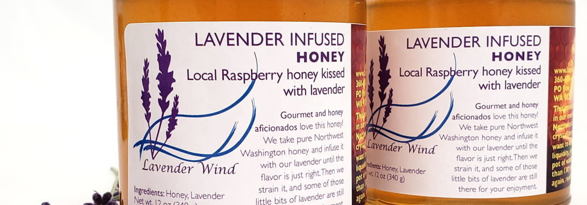 Lavender Infused Honey - 12 oz.