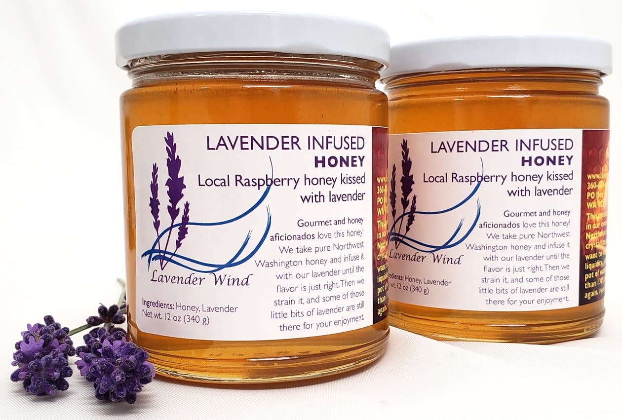 Lavender Wind Lavender Infused Honey - 12 oz.