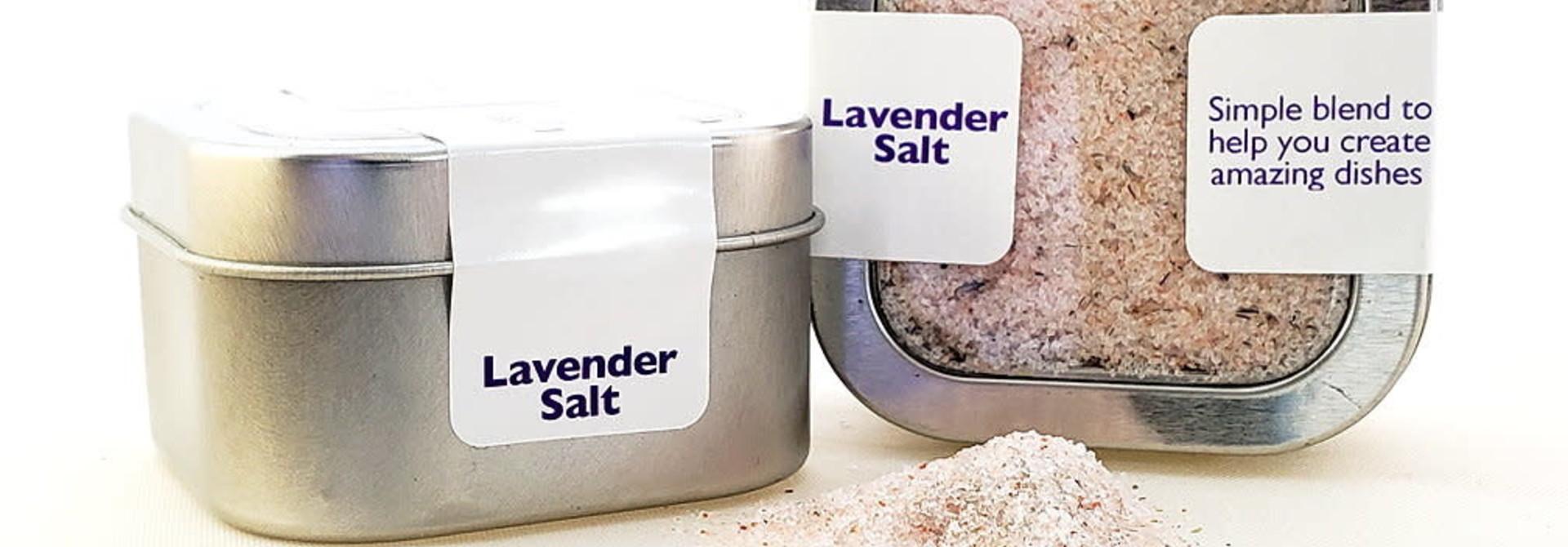 Salt, Lavender - Ground in tin