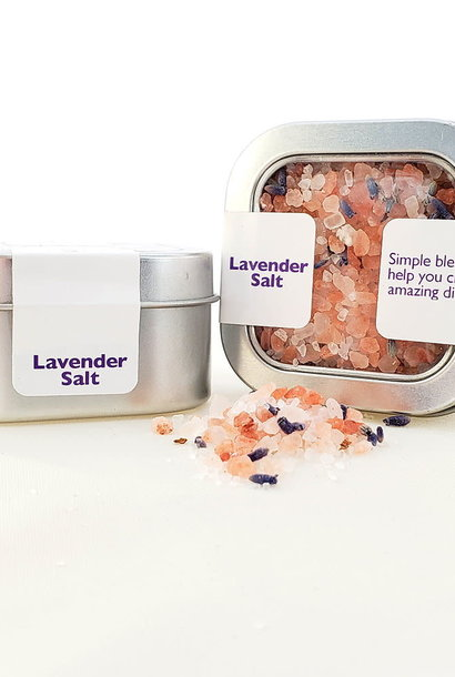 Salt, Lavender - Coarse in Tin