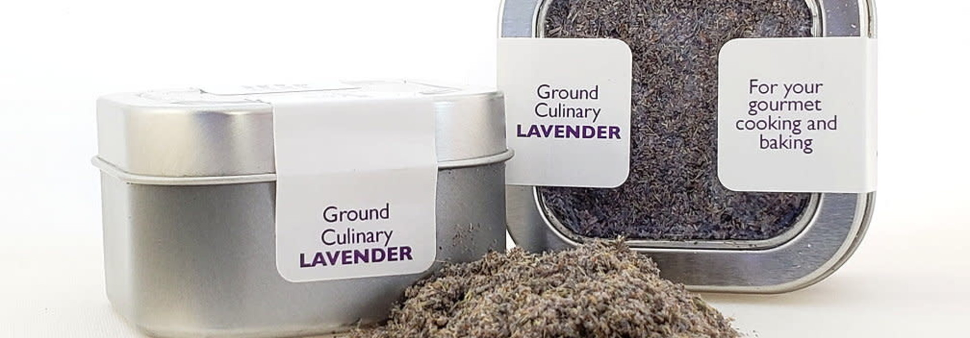 Culinary Lavender, ground, .7 oz tin