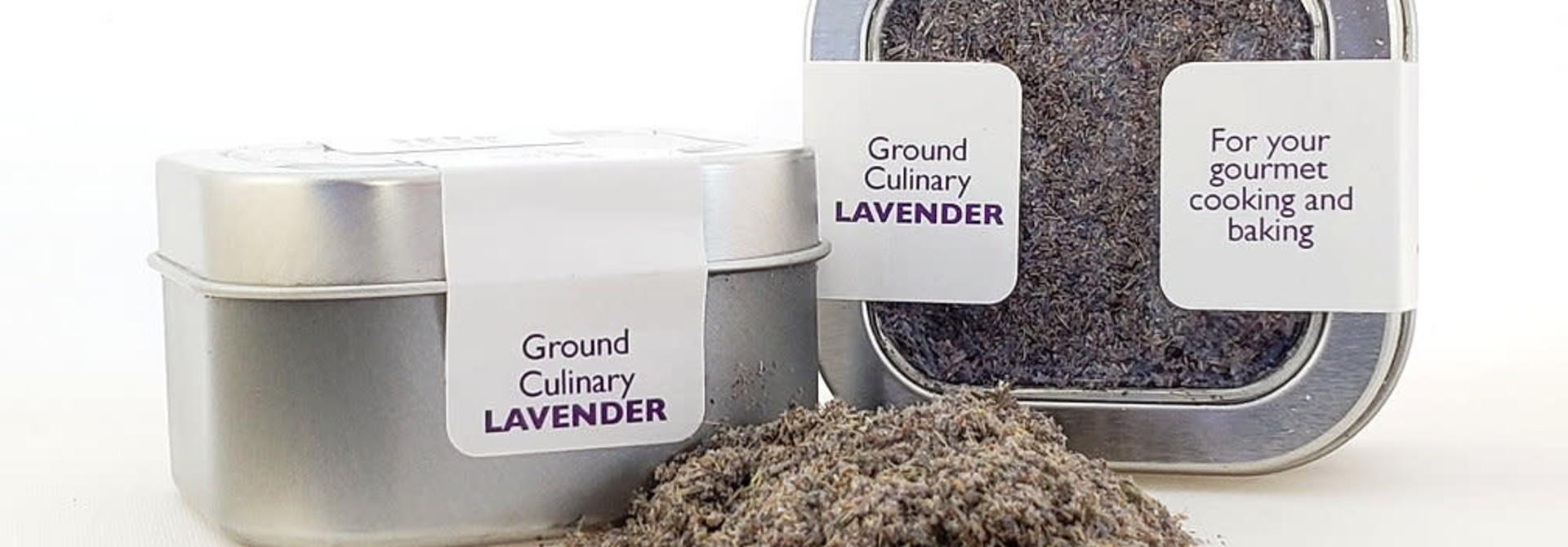 Culinary Lavender, ground, .7 oz tin