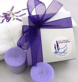 Lavender Wind Candle, Votive Gift Box 4-Box