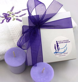 Lavender Wind Candle, Votive Gift Box 4-Box